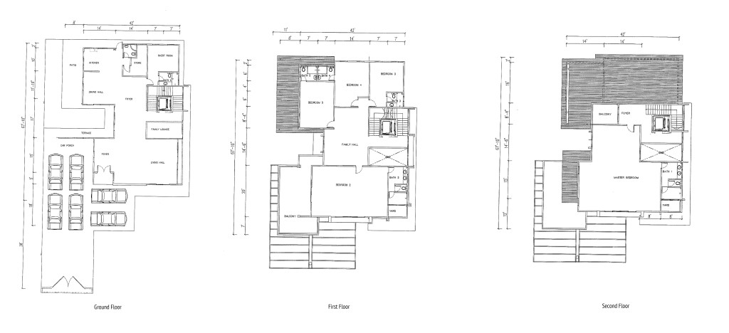 Vista Jambul 3 Storey Bungalow (Type B) floor plan
