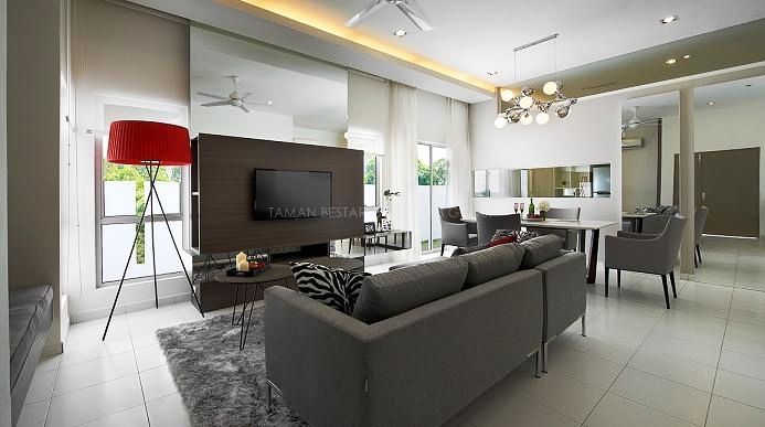 Taman Bestari 1 Storey Semi – D living room