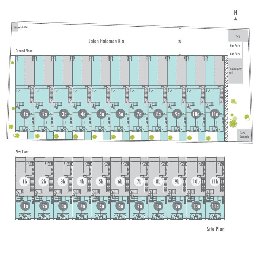 Halaman Ria site plan
