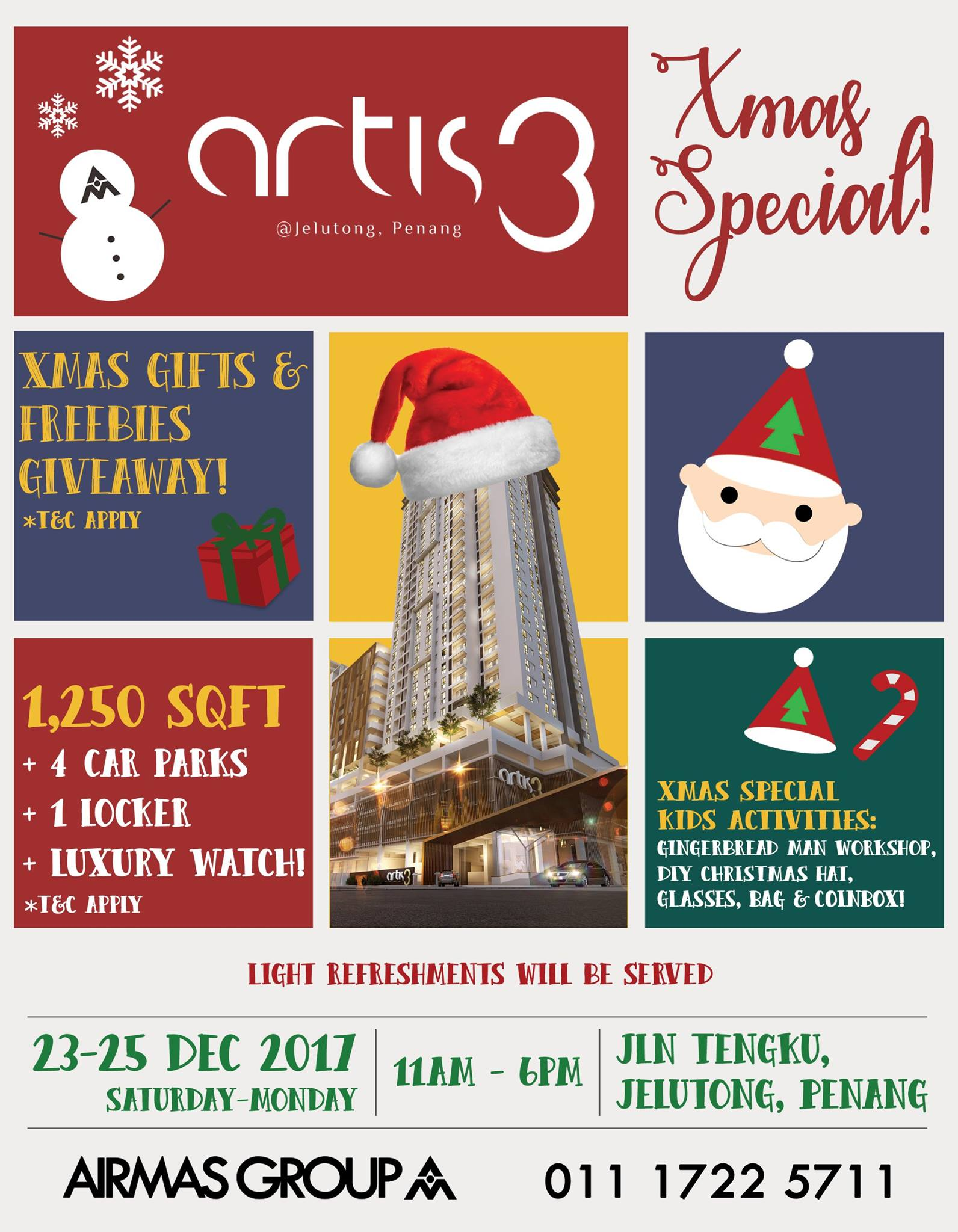 xmas gifts & freebies giveaway at Artis 3
