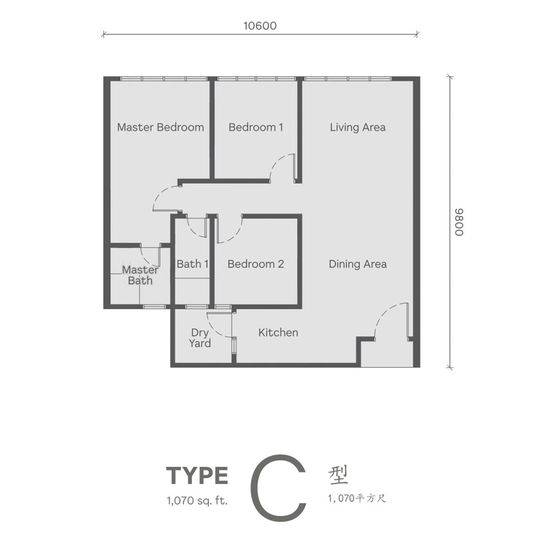 Type C Wellspring Residences site plan