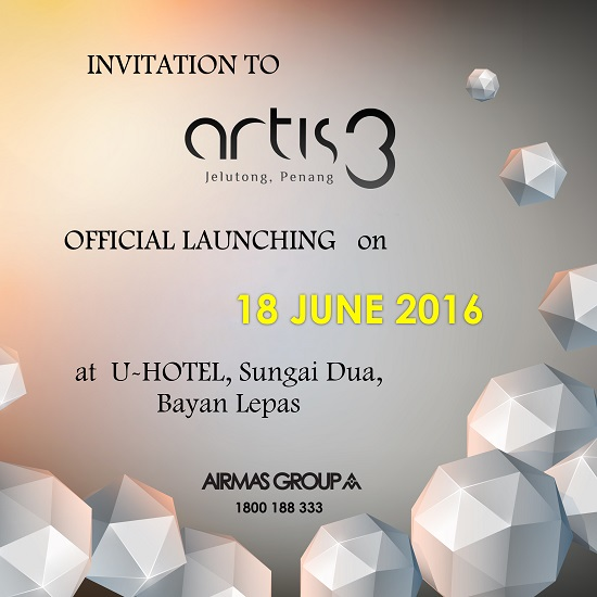 invitation to official launching of Artis 3