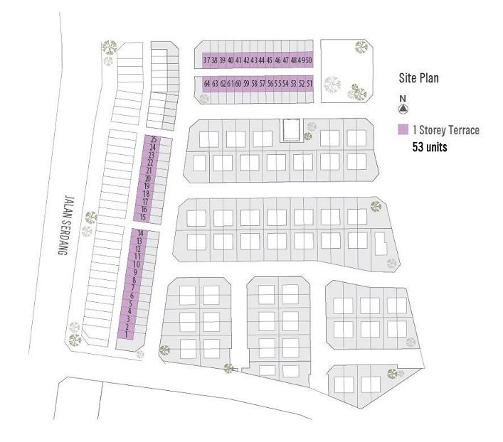 Taman Bestari 1 Storey Terrace site plan