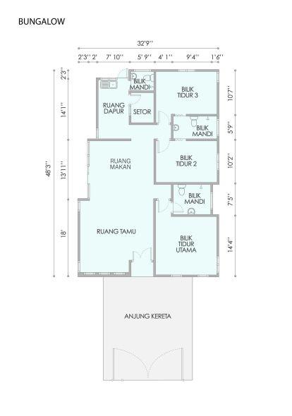Taman Bestari 1 Storey Bungalow floor plan