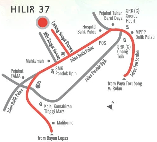 Hilir 37 location map