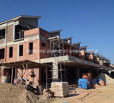 Residensi Zamrud site progress photo
