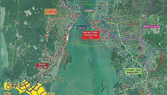 Penang LRT roadmap