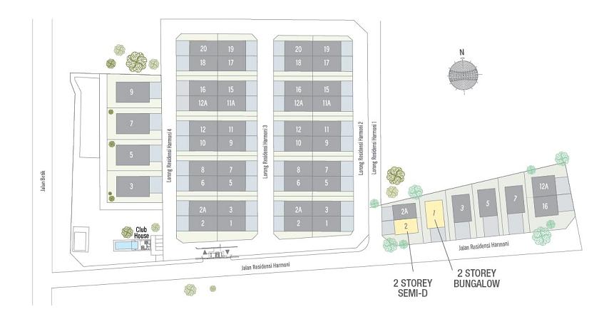 Residensi Harmoni site plan