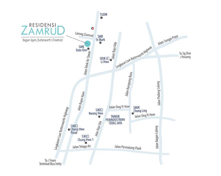 Residensi Zamrud location map