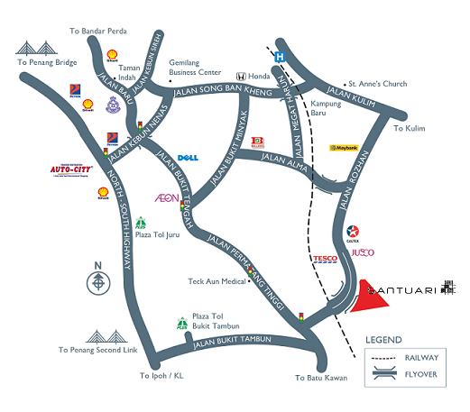 Santuari Commercial Centre location map