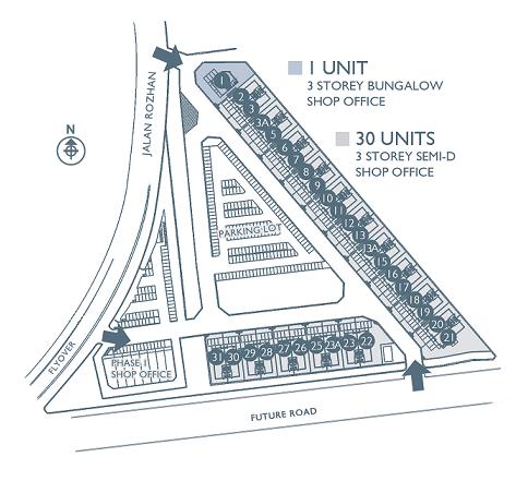 Santuari Commercial Centre site plan