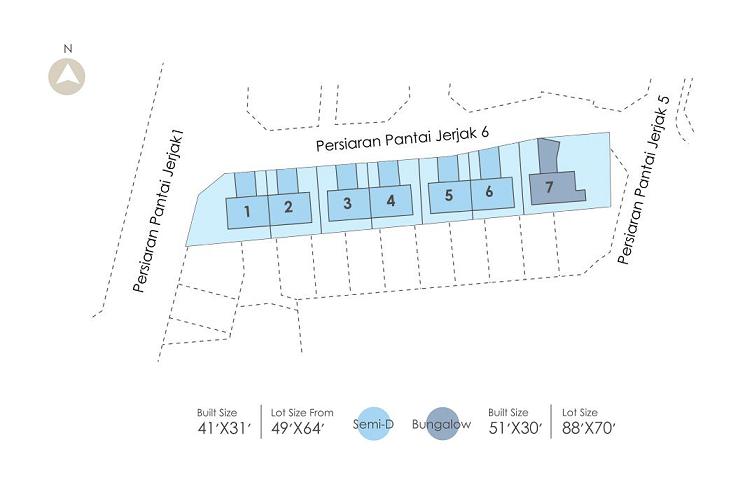 Taman Seri Jerjak 3 Storey Bungalow site plan