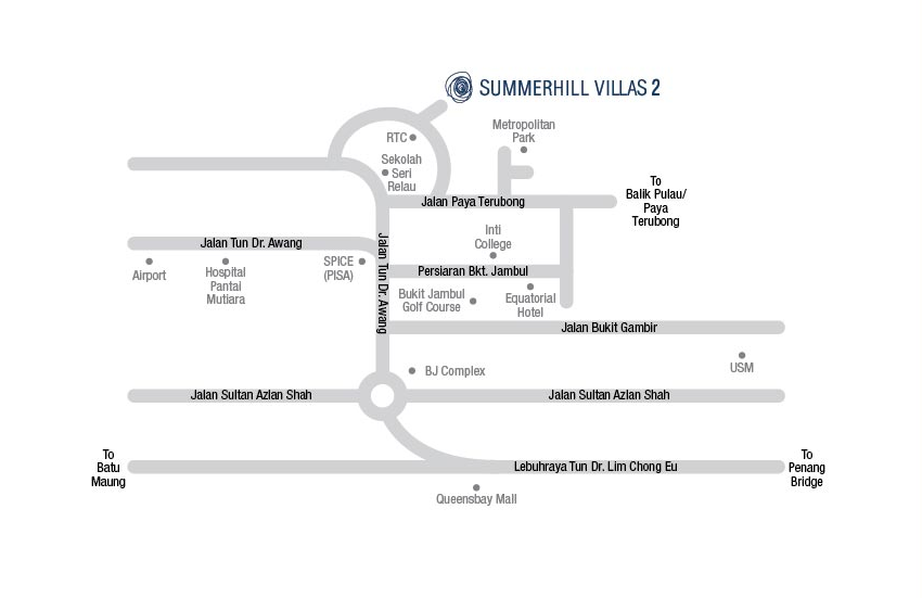 Summerhill Villas 2 location map