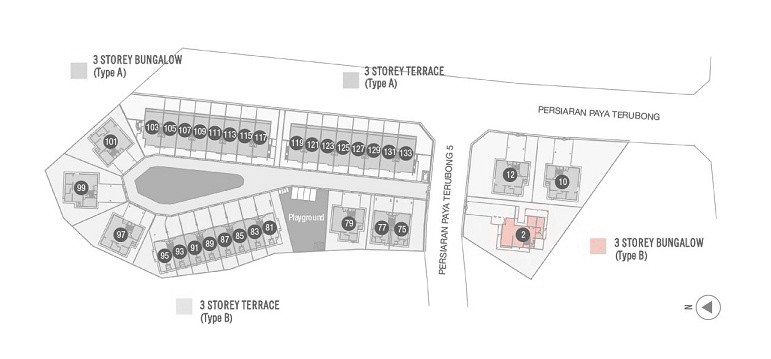 Vista Jambul 3 Storey Bungalow (Type A) site plan