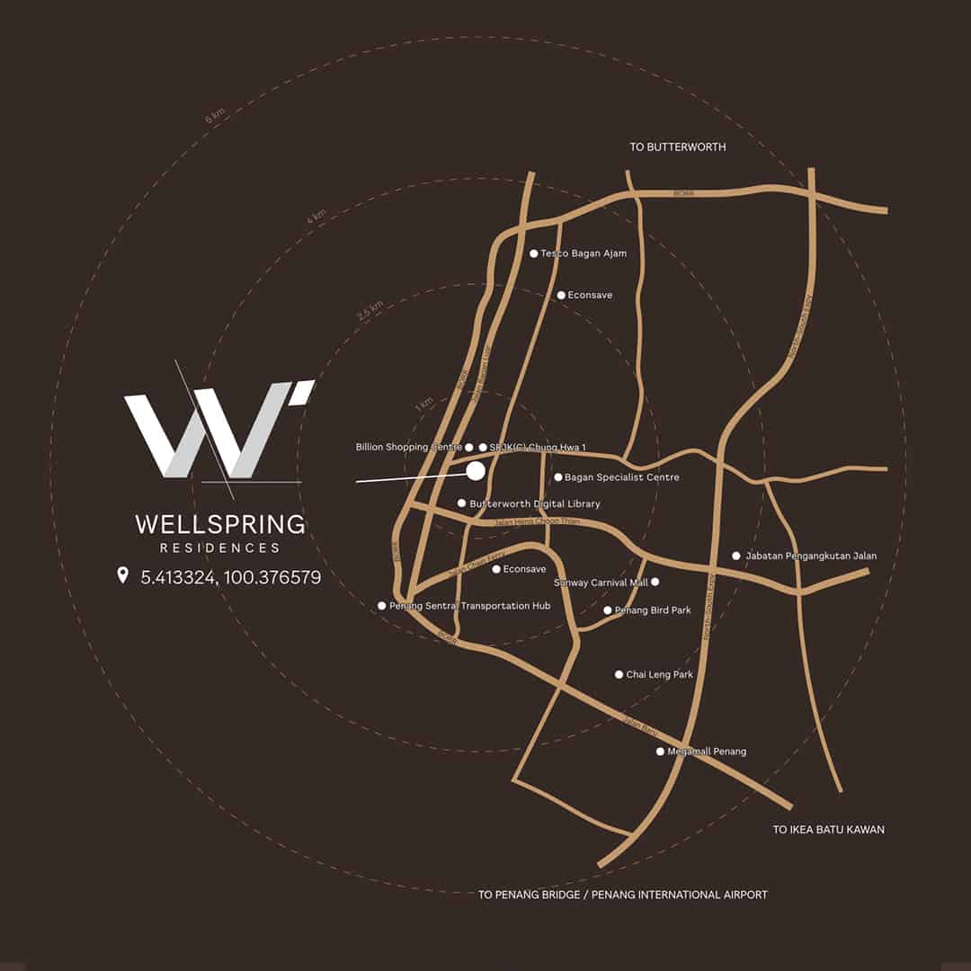 Wellspring Residences location map
