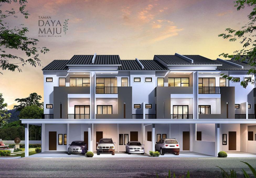 Taman Indah Bukit Tengah, Bukit Mertajam 3 storey Semi-D properties