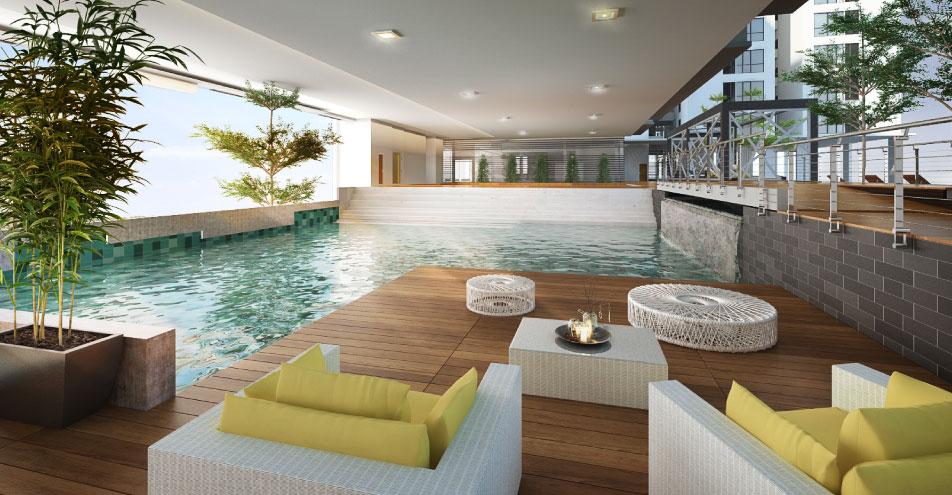 swimming pool interior shoot
