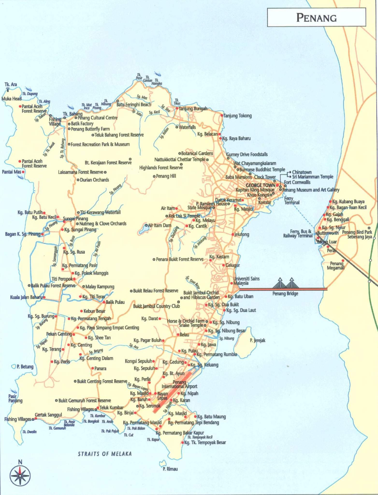 Penang map