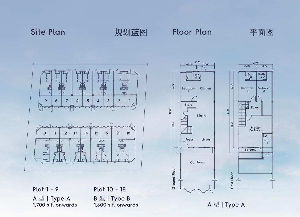 taman riang site plan floor plan