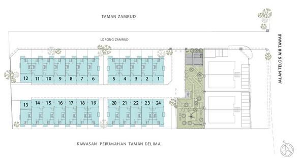 Residensi Zamrud site plan